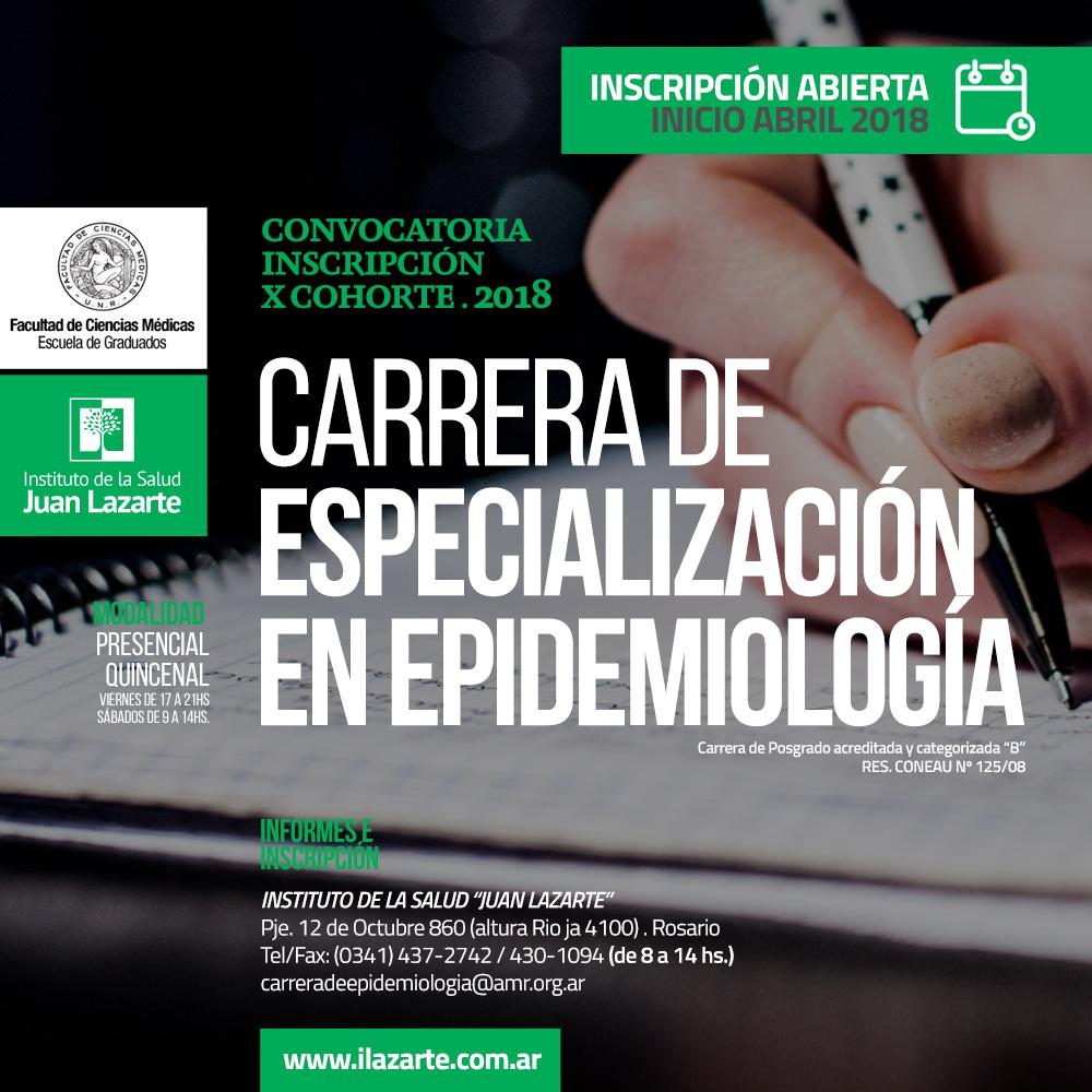 Convocatoria Inscripción X Cohorte . 2018