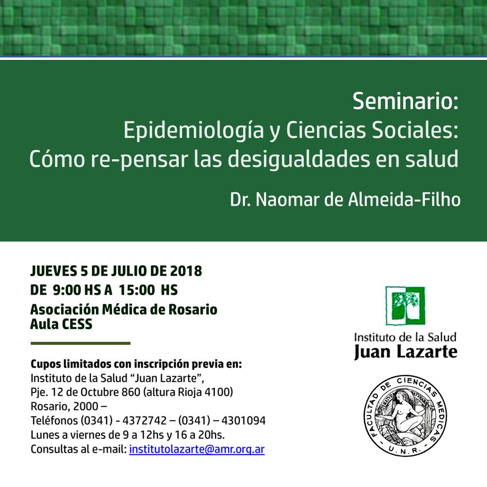 Seminario: Epidemiología y Ciencias Sociales – Cómo re-pensar las desigualdades de la salud.