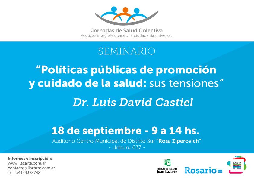 """Seminario: """"Políticas públicas de promoción y cuidado de la salud: sus tensiones"""""""