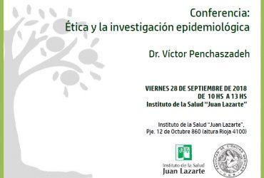 Conferencia: Ética y la investigación epidemiológica