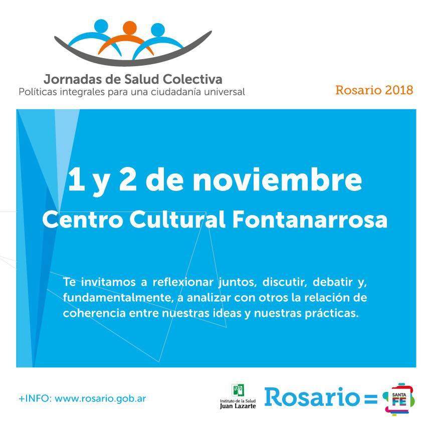 """II Jornadas de Salud Colectiva """"Políticas integrales para una ciudadanía universal"""""""