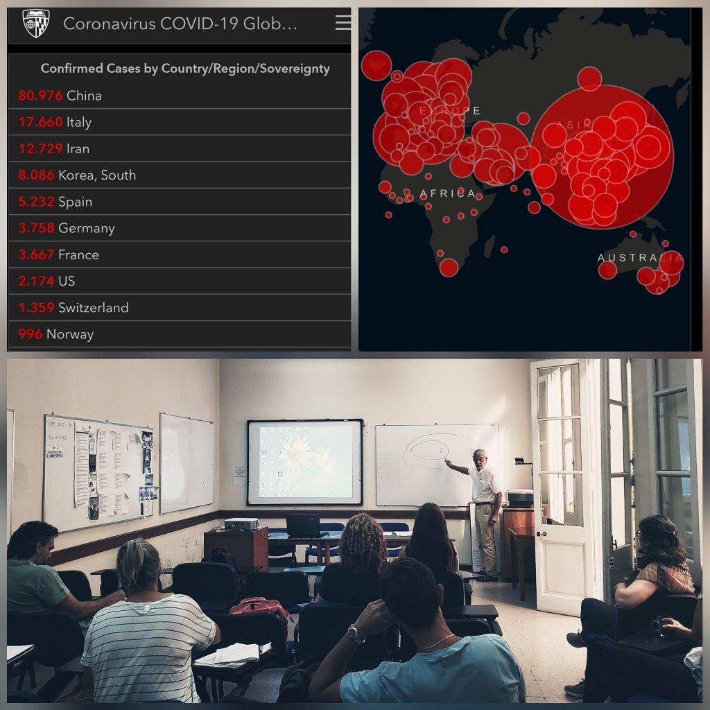 """Clase informativa """"Coronavirus COVID-19"""" para alumnos de la Especialización en Epidemiología."""