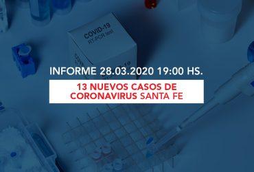 13 Nuevos casos en Santa Fe. – [ Parte MSSF Coronavirus 28/03/2020 ]